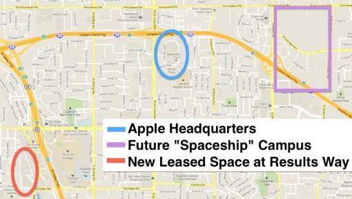 Apple alquila un nuevo campus