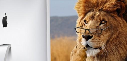 Lion con gafas