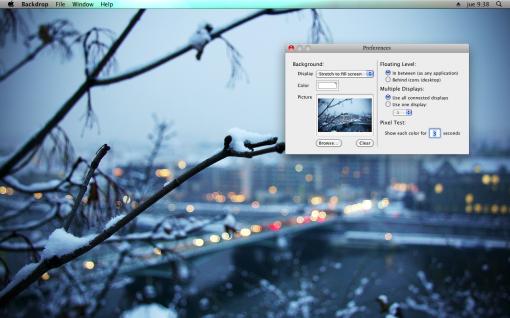 Backdrop: fondo de pantalla para limpiar el escritorio