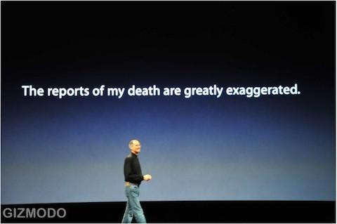 Steve Jobs enfermedad exageración