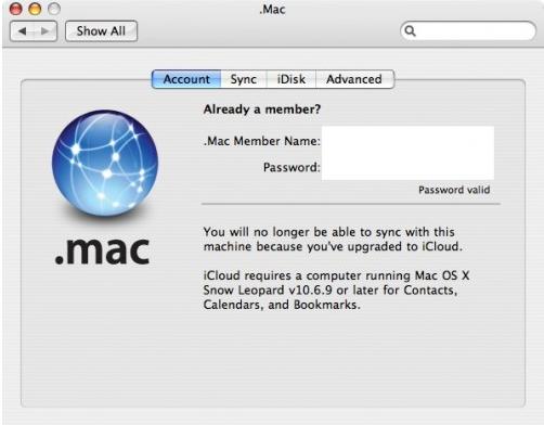 Snow Leopard podría soportar finalmente iCloud