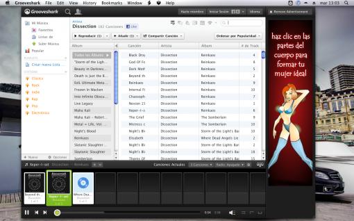Grooveshark Desktop, un cliente mejorado de Grooveshark para Mac OS X