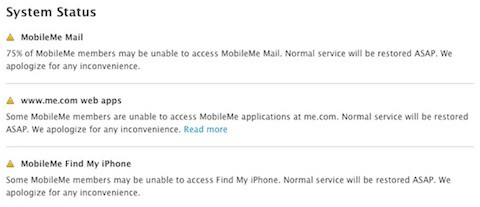 Una caída de MobileMe afecta al 75% de usuarios