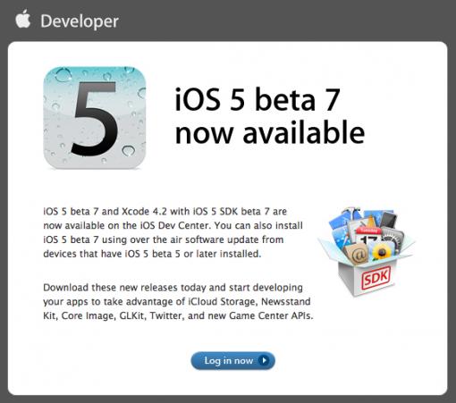 La última beta de iOS 5 podría indicar el próximo lanzamiento del nuevo iPhone