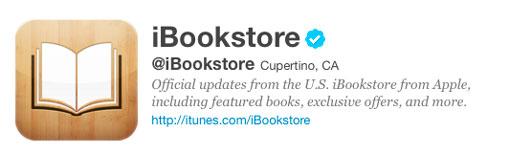 Apple estrena cuenta de iBookStore en Twitter