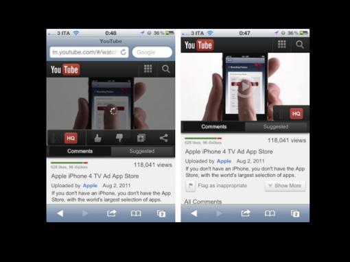 Youtube rediseña su aplicación para móviles