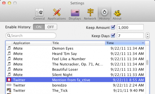 Ya se puede encontrar Growl 1.3 dentro de la Mac AppStore