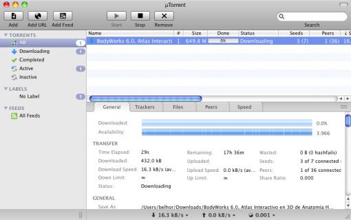 uTorrent para Mac OS X