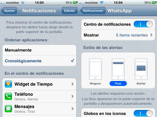 Configuración de las notificaciones para iOS