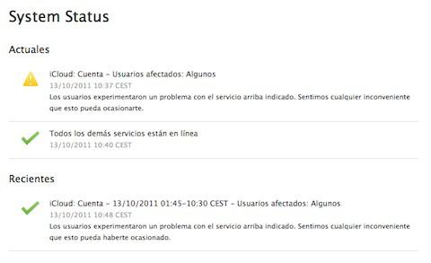 Mail e iOS rechazan a veces la contraseña de iCloud, y Apple lo sabe