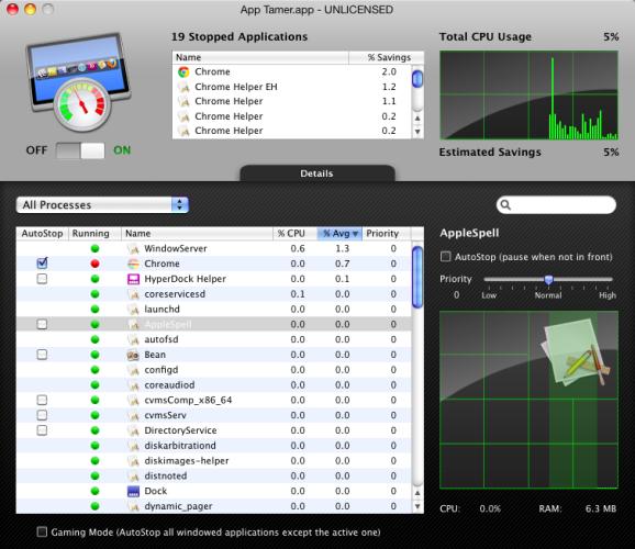 App Tamer, o cómo gestionar los procesos de las aplicaciones