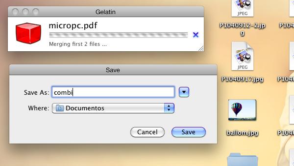 Gelatin, o cómo combinar PDF