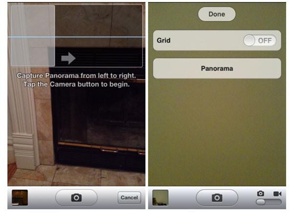 Fotografías panorámicas desde iOS