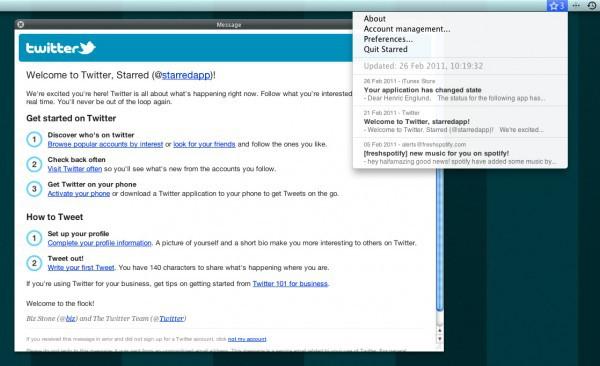Starred, notificaciones de los correos estrella de Gmail
