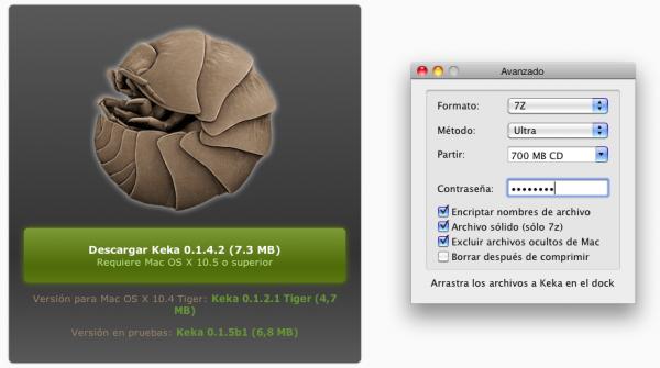 keka, compresor de archivos gratuito