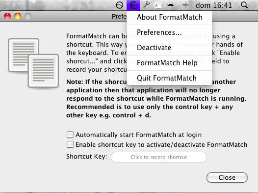 FormatMatch, copia texto sin formato siempre