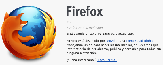Firefox 9 para Mac OS X