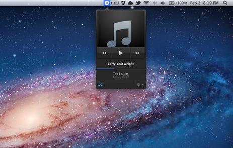 Skip Tunes, ontrolando iTunes desde la barra de menús