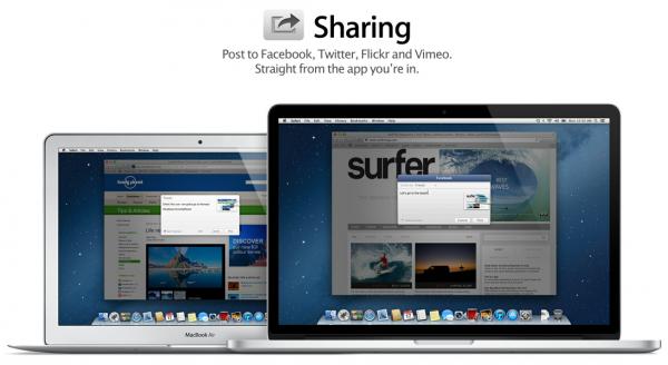 Compartir, Facebook y Dictado