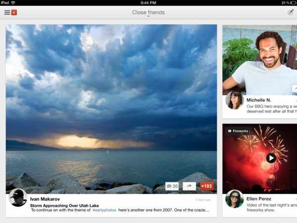 App Google+ iPhone iPad