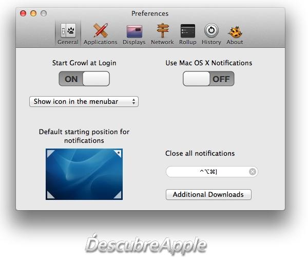 Disponible Growl 2.0, con soporte para el centro de notificaciones