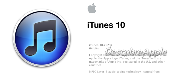 Logo de iTunes 10.7
