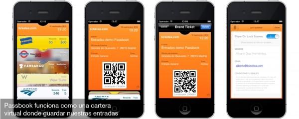 Cómo funciona Ticketea en Passbook