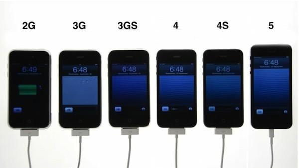 Comparativa del arranque de todos los modelos de iPhone existentes