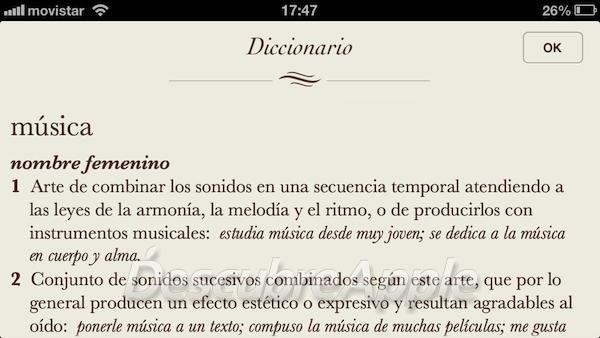 Diccionario en iOS