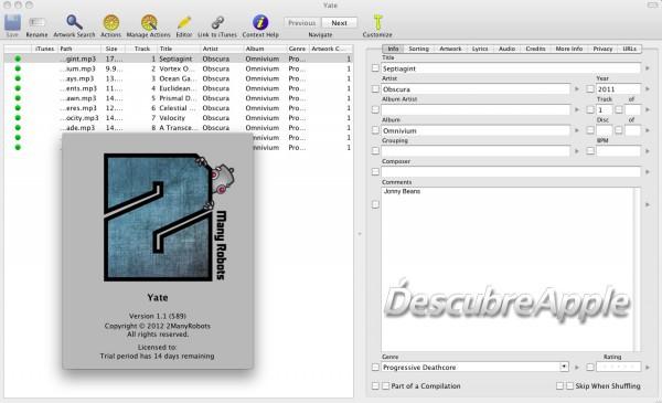 Yate: ayuda a organizar la biblioteca de iTunes