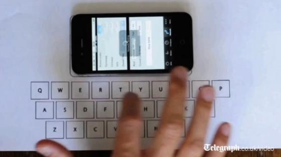 Se crea un teclado de papel para iPhone