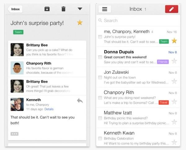 Gmail 2.0 para iOS