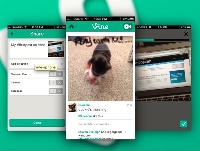 Comparte vídeos con Vine, aplicación para iOS