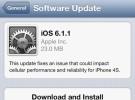 La actualización de iOS 6.1.1 en exclusiva para el iPhone 4S