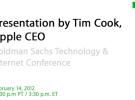Tim Cook en Goldman Sachs: La experiencia de usuario está por encima de las especificaciones técnicas