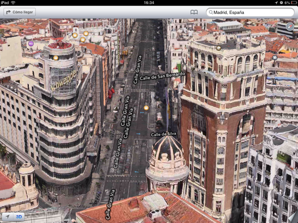 mapa madrid iOS