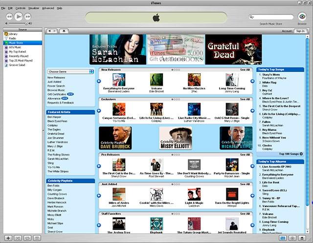Una década de la tienda de iTunes