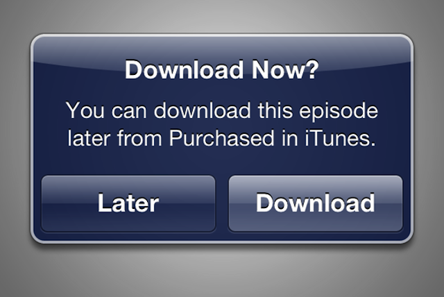 download later