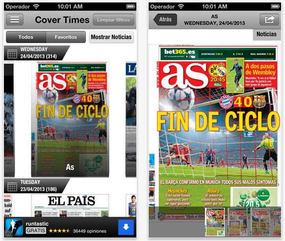 CoverTimes iOS