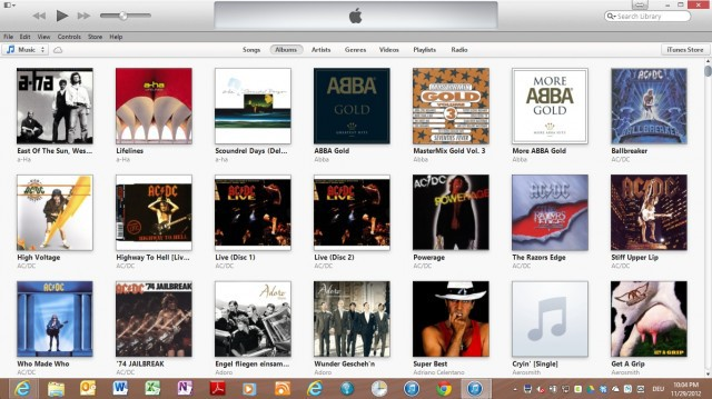 iTunes 11 windows