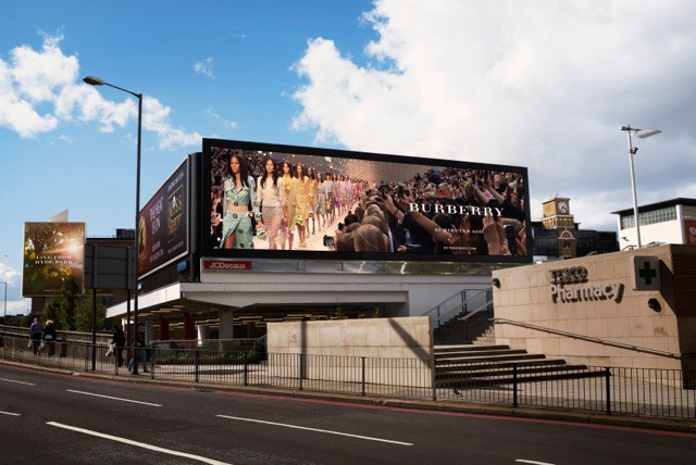 Burberry Prorsum Womenswear Spring_Summer 2014 Show - OOH Activity at Cromwell Road