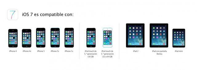 iOS 7 compatiblidad