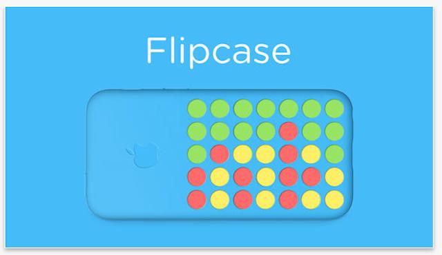 Flipcase: una App aprovecha la funda del iPhone 5C para jugar al cuatro en raya