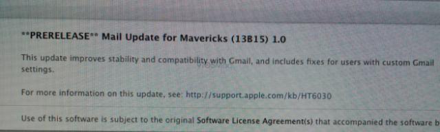 mail update Mavericks
