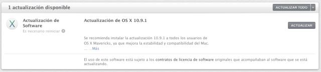Mavericks se actualiza a la versión 10.9.1
