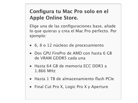 Configura Mac Pro