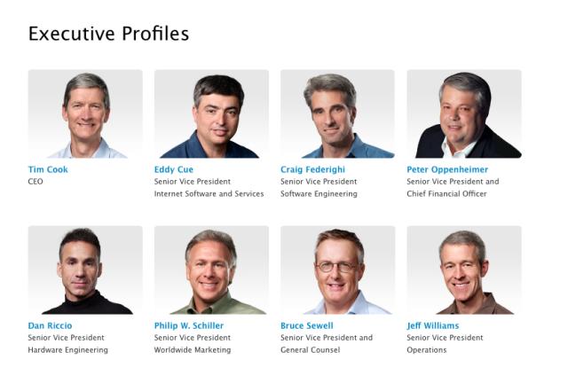 ejecutivos apple