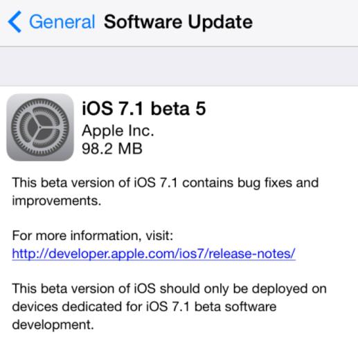 iOS 71b5