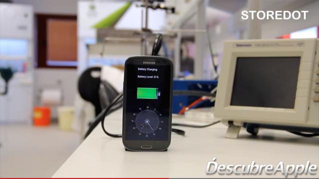 A finales de 2016 podrías cargar tu iPhone en poco más de 30 segundos