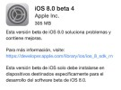 Novedades de la beta 4 de iOS 8 para desarrolladores